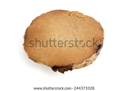 Slice of yam on a white background - stock photo