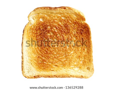 Slice toast bread isolated on a white background - stock photo