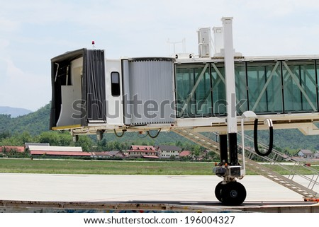 Slice walk way and stair for the airline