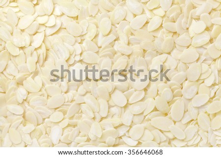 sliced almond - stock photo