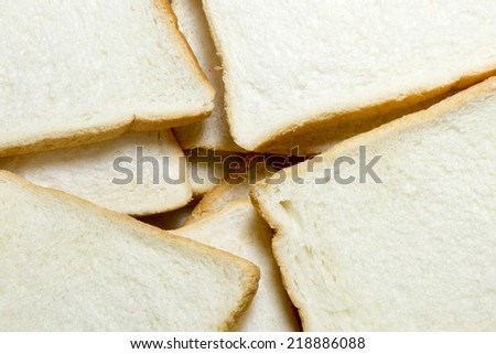 Sliced and dried bread