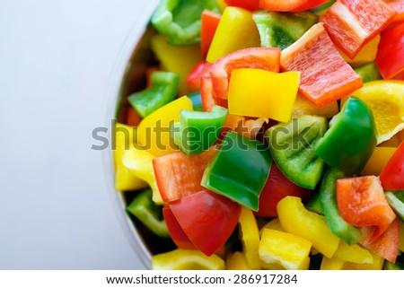 sliced bell pepper - stock photo