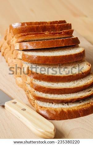 sliced bread - stock photo