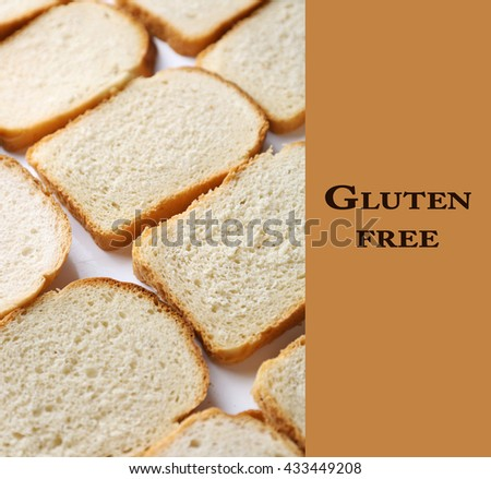 Sliced bread and text Gluten Free