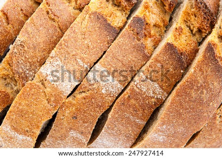 Sliced bread as a background. - stock photo