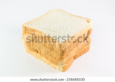 sliced bread isolate on white background - stock photo