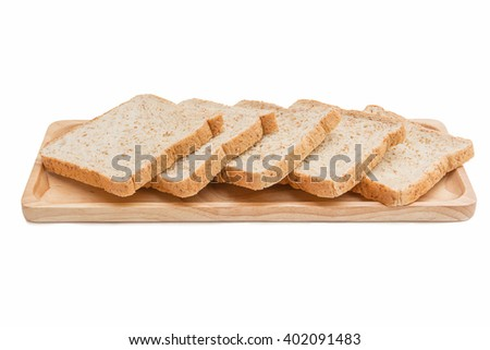 Sliced bread Isolated on white.
