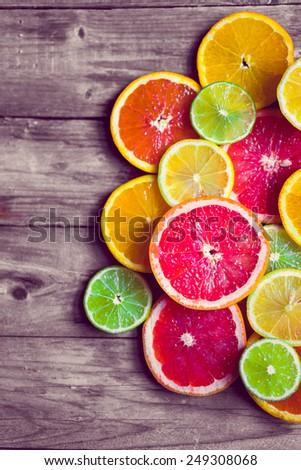 Sliced citrus - stock photo