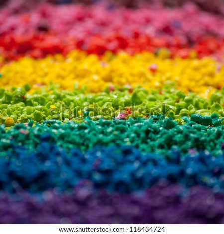 Sliced color pigment closeup photo - stock photo