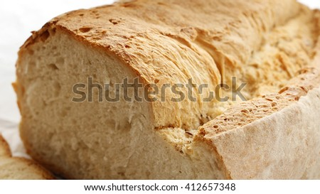 Sliced crispy crust bread