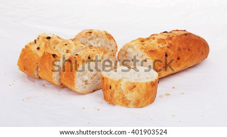 Sliced French Baguette - stock photo