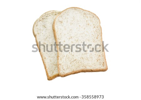 sliced grain bread isolated on white background