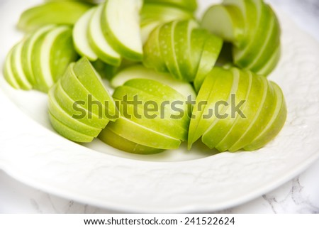 Sliced Green Apple for Cooking or Snacking