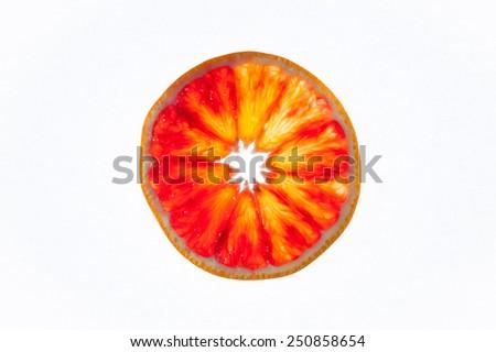 Sliced healthy fresh fruits. Ring of orange   - stock photo