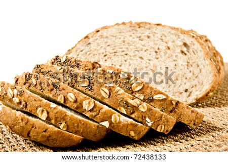 Sliced healthy fresh wholegrain bread - stock photo