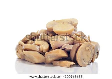sliced portabella mushrooms  Sliced mushrooms Stock Photos,
