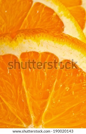 Sliced orange close-up.