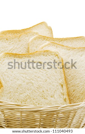 Sliced plain bread in basket
