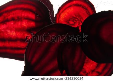sliced raw beet - stock photo