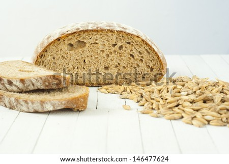 sliced rye bread on wooden table