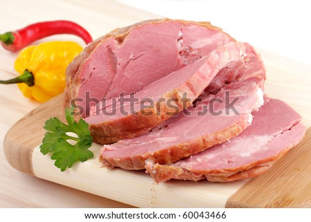 sliced smoked meat