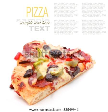Sliced Triangle Pizza - stock photo