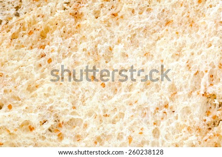 Sliced white bread on white background .