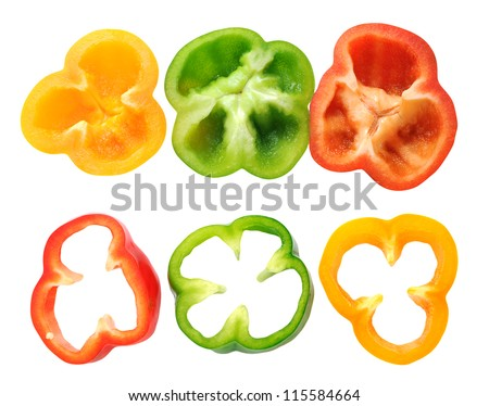sliced green bell peppers - 450×374