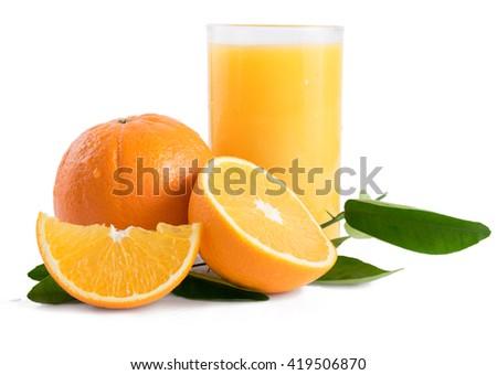 Slices of fresh orange, grapefruit, lemon and kiwi isolated on white background - stock photo