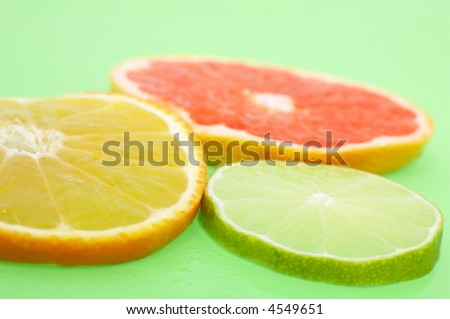 Slices of fruits