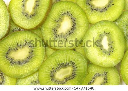 Slices of kiwi fruits  - stock photo