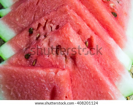 Slices of red watermelon/Watermelon