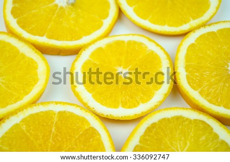 Slices of ripe orange