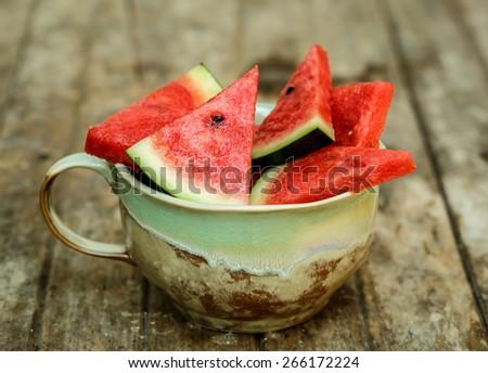 slices of watermelon - stock photo
