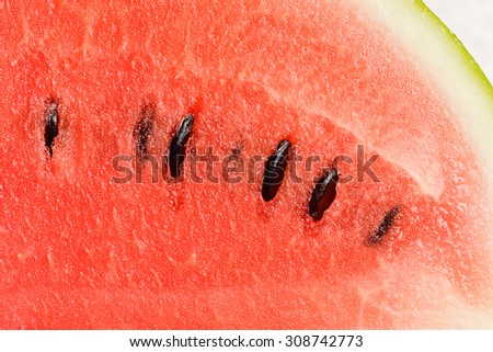 slices of watermelon close up