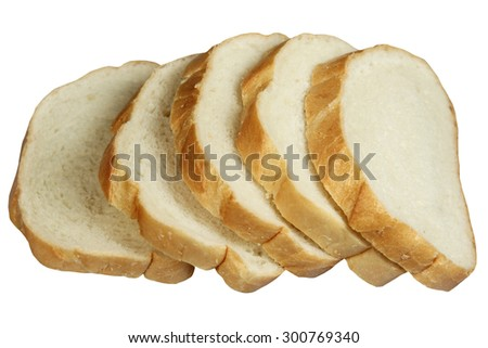 Slices of white loaf - stock photo