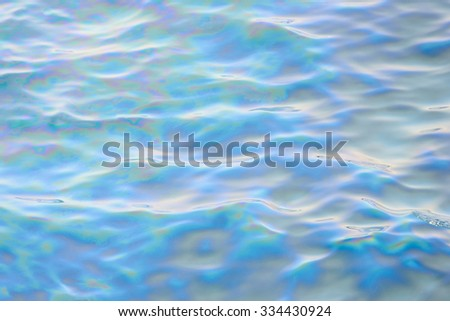 Slick industry oil fuel spilling water pollution - stock photo