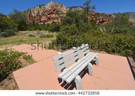 Slide Rock State Park, Arizona USA - stock photo