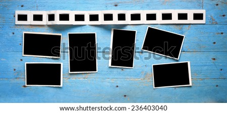 slides and pictures, free space for your pics - stock photo