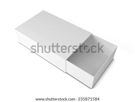 Sliding box. 3d illustration isolated on white background  - stock photo