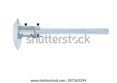 Sliding callipers isolated on a white background - stock photo