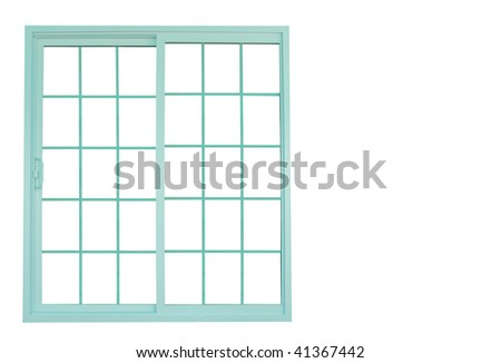 sliding door - stock photo