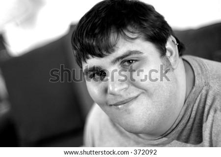 Slight Smile - stock photo