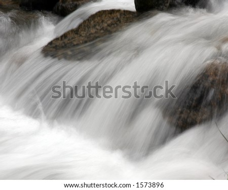 Slightly blurred action of waterfall