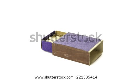 Slightly defocused match stick and matchbox on white - stock photo