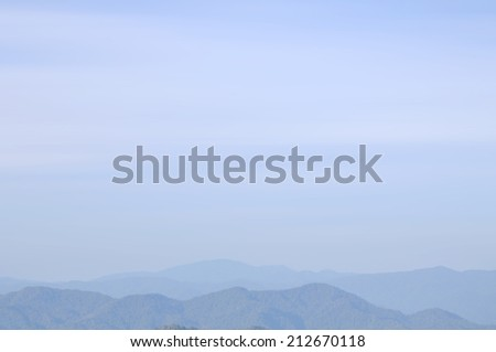 Slightly defocused of foggy mountain for background use