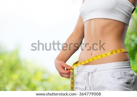 Slim. - stock photo