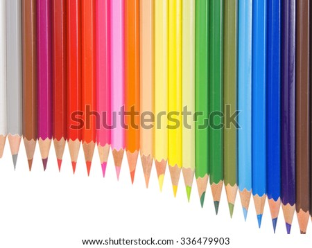 slim crayons pan flute arrangement copy space