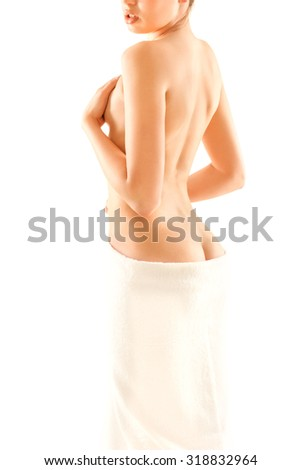 Slim woman body - stock photo