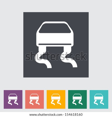 Slip-indicator. Single flat icon.  - stock photo